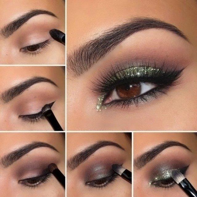 Как делать макияж глаз поэтапно фото для начинающих