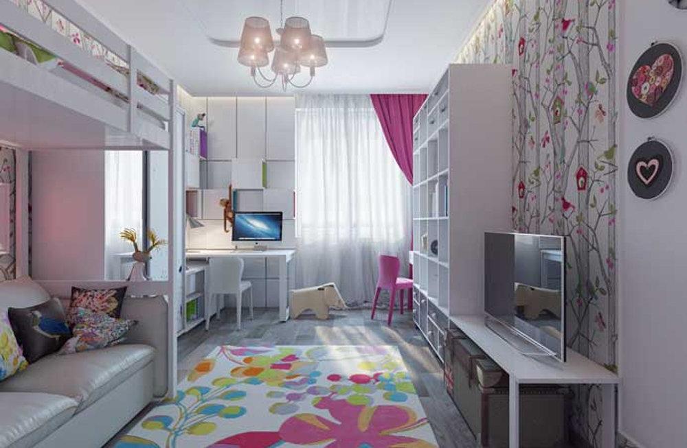 факты личной дизайн детской для девочки на 14 кв м лучшее только