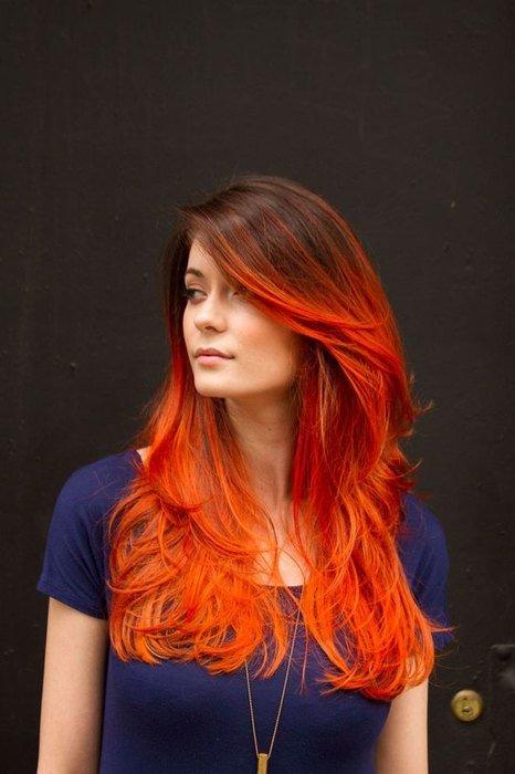 Прически на рыжие волосы длинные