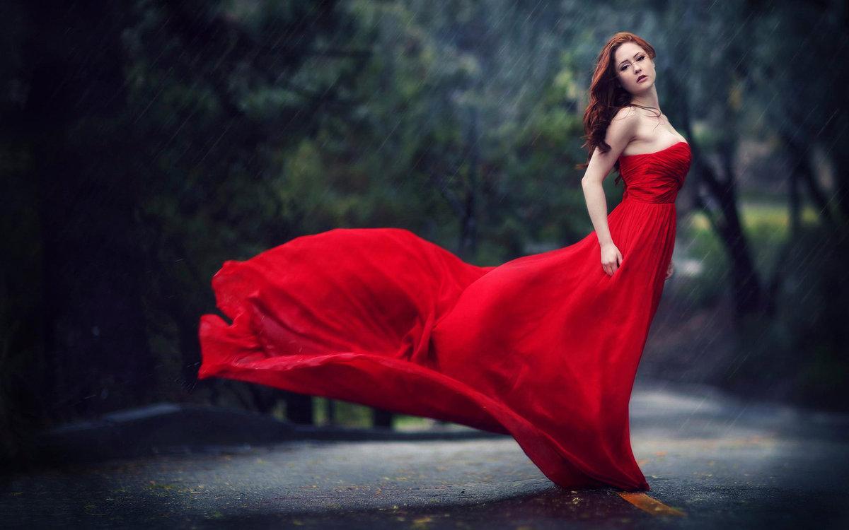 мне девушки в красных платьях фото свою
