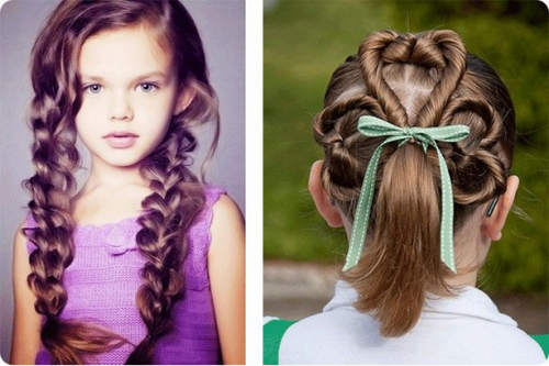 Причёска для девочки легкие 30