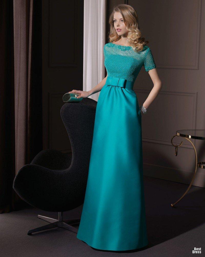 fed6c1d18f3 Шикарное бирюзовое платье в пол с бантом на талии.» — карточка ...