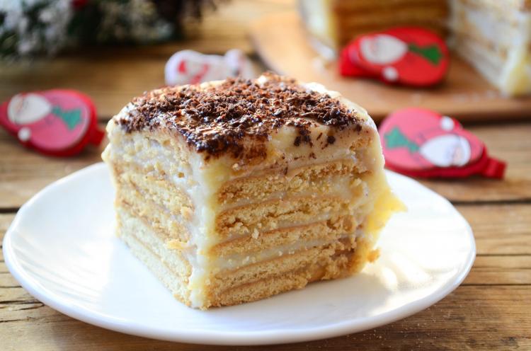 Очень вкусный торт с заварным кремом рецепт