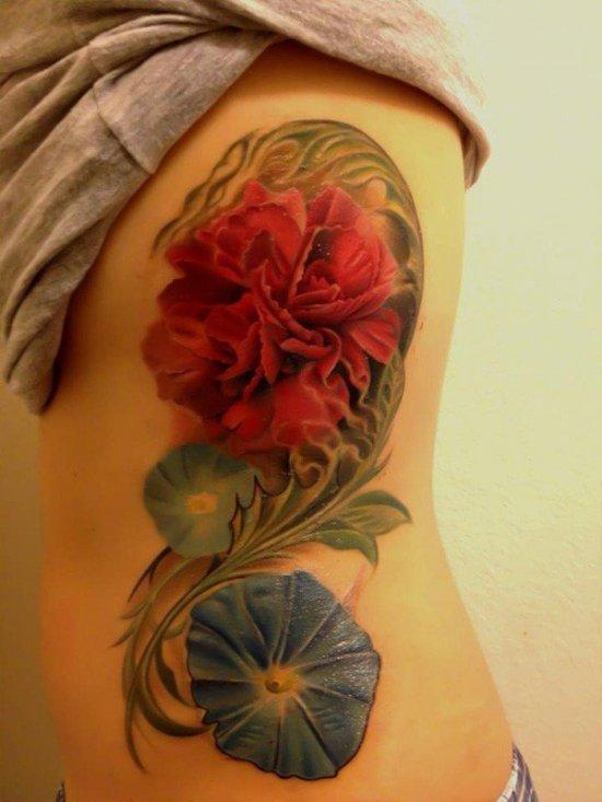 красивая цветная тату