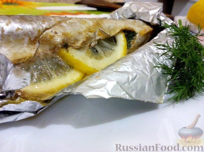 рецепт скумбрии запеченной в фольге с лимоном и зеленью