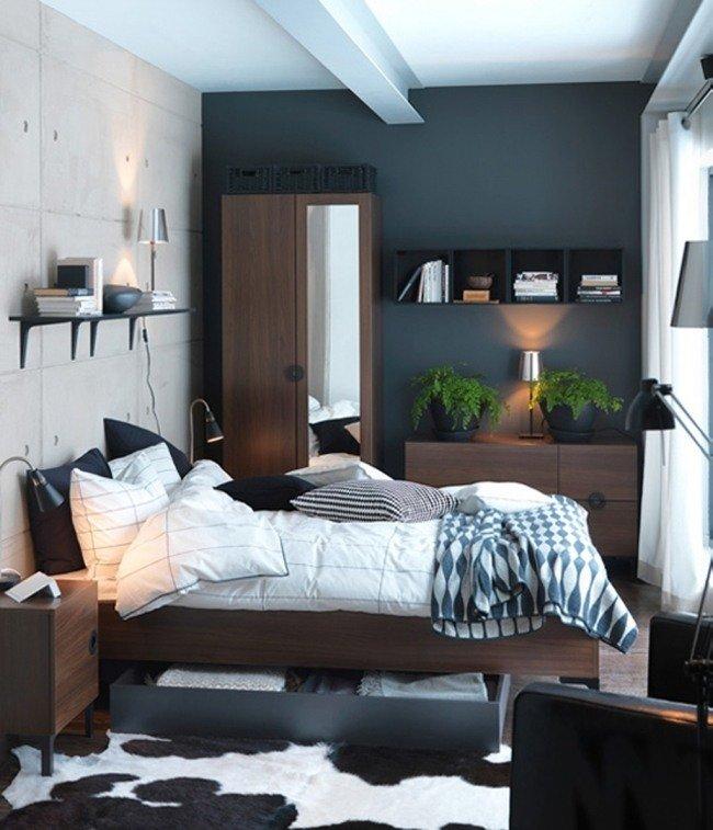 Брутальный интерьер спальни
