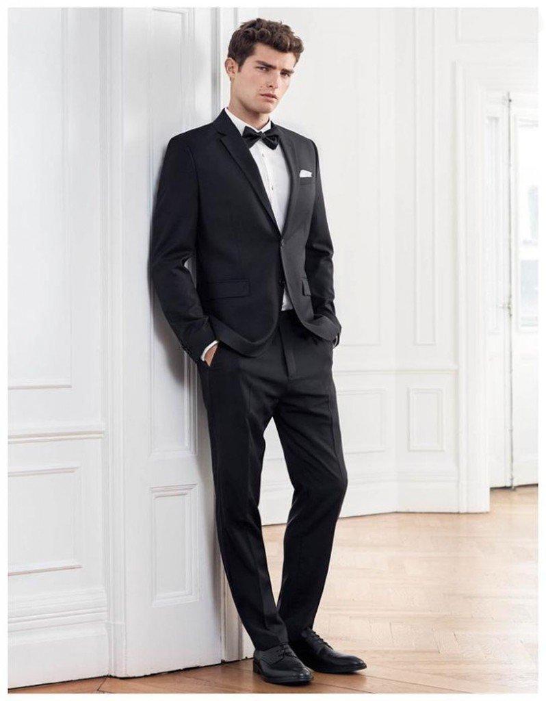 чёрные костюмы мужские фото