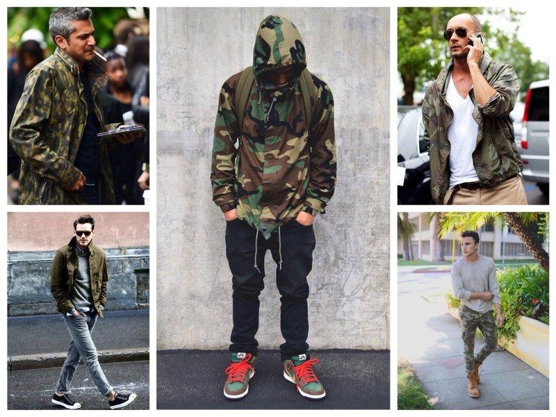 Модная одежда милитари