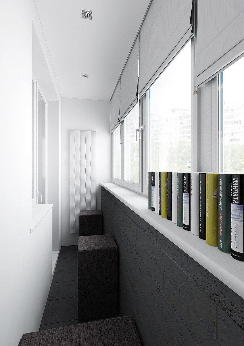 Серый цвет в интерьере балкона. стильное современное решение.