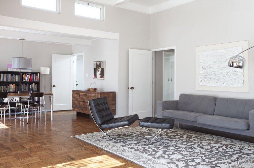 белые межкомнатные двери в современном интерьере картка