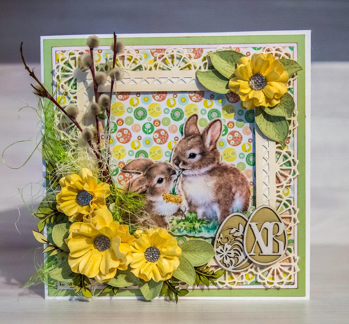 Скрапбукинг открытка пасха, картинки