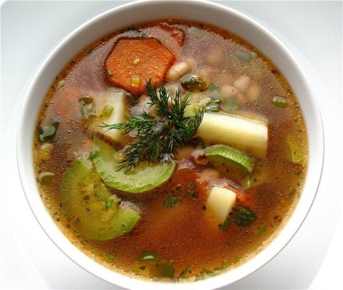 Овощной вегетарианский суп