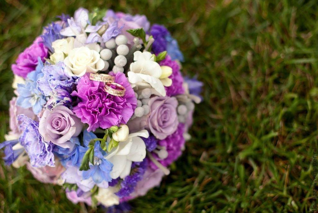 Букет невесты в сиреневом стиле, иркутск недорого купить
