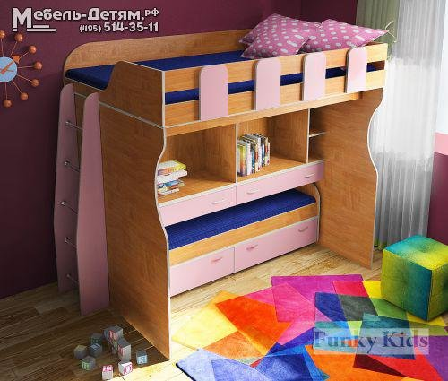 детская кровать с рабочим местом