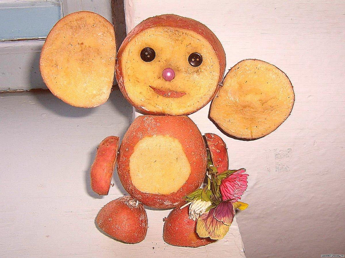 Осенняя поделка из овощей и фруктов своими руками подходит