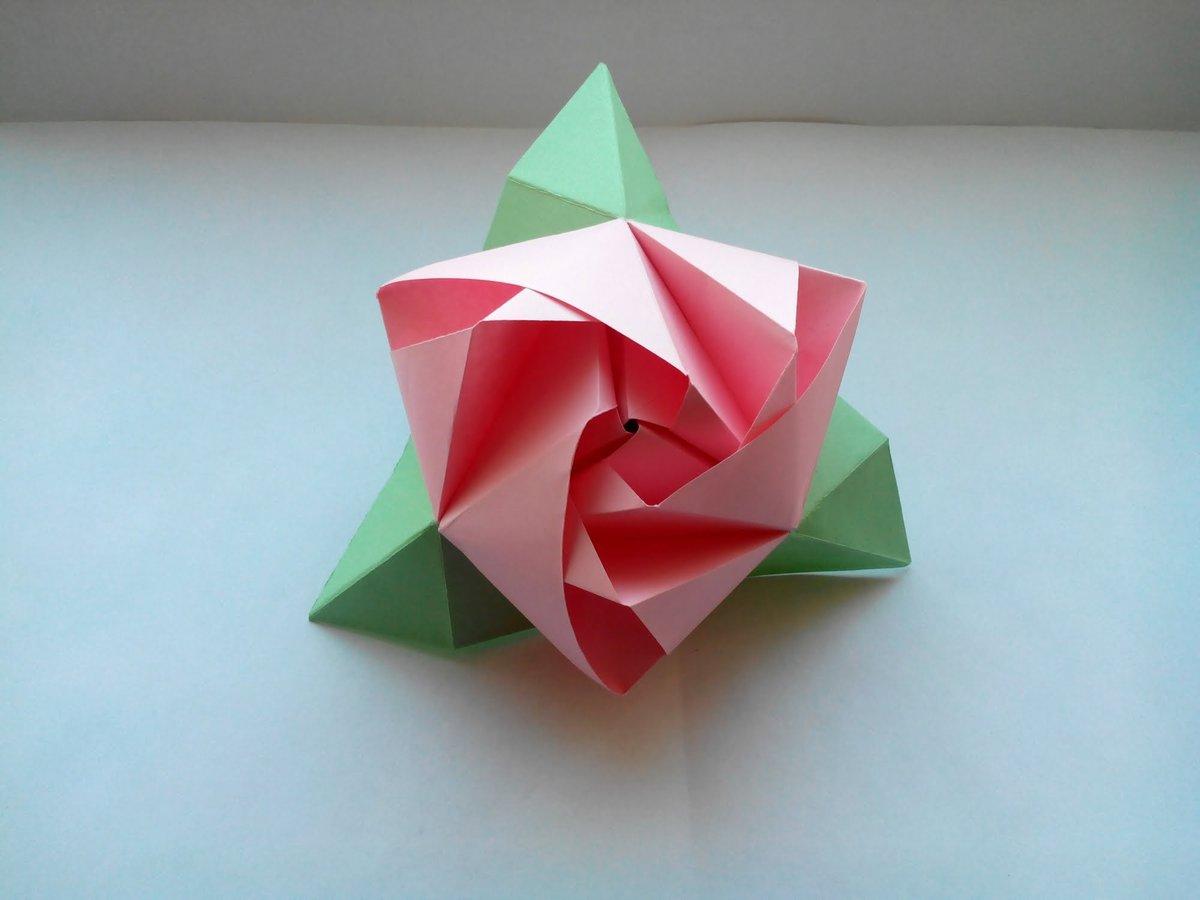 Оригами 4 в открытках, надписью