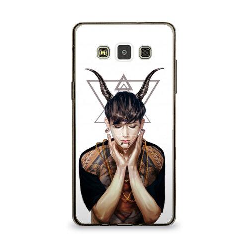 Чехол для Samsung Galaxy A5 силиконовый глянцевый ультра тонкий exo