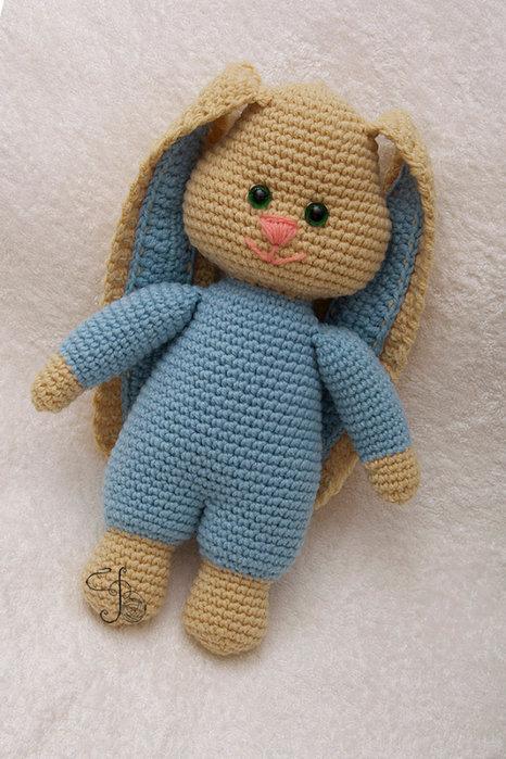 Амигуруми заяц с длинными ушами схема
