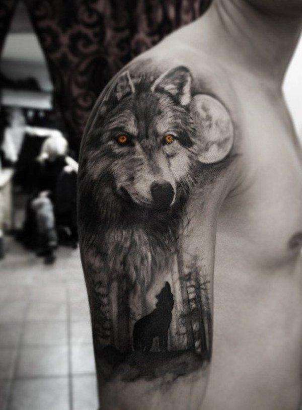фото тату с волком