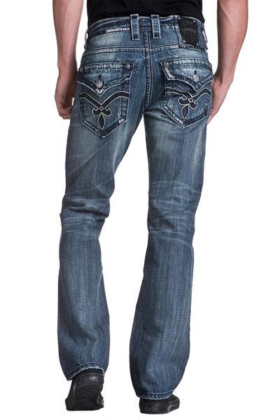 Мужские джинсы с вышивкой на карманах