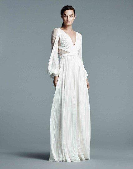 Невеста в платье плиссе