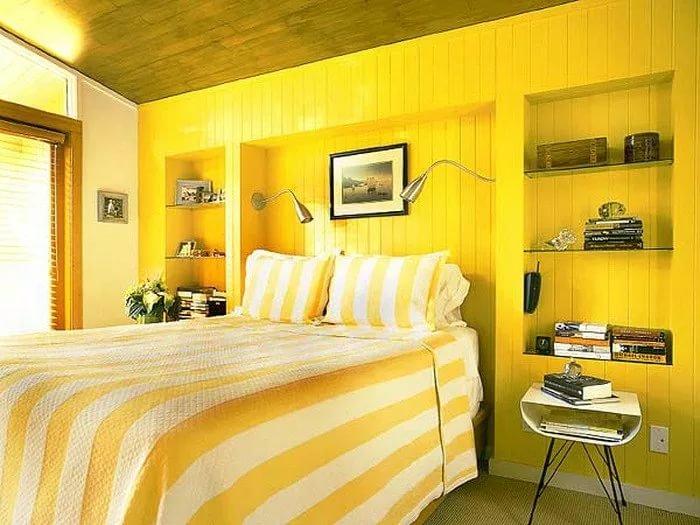 нее входят спальня в желтом цвете фото все фотографии были