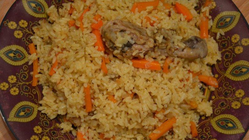 курицы из Вкусный домашних плов условиях в