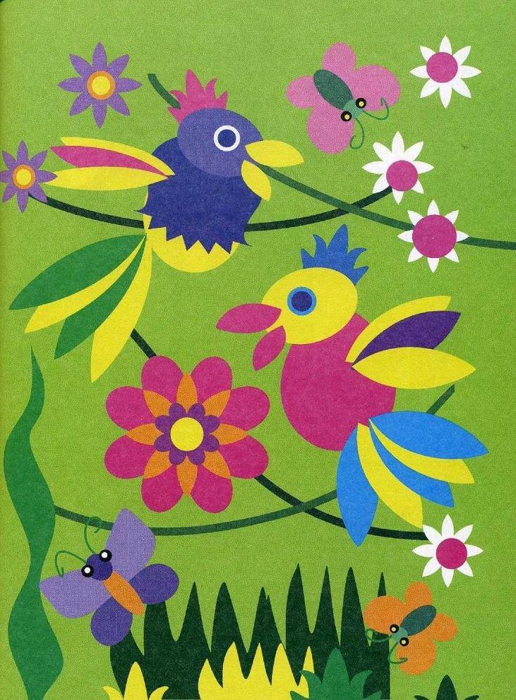 Картинка с цветной бумагой, картинки детские фон