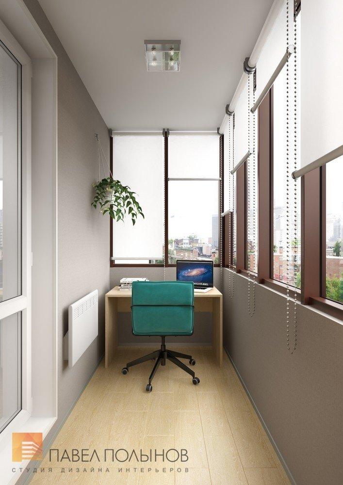 """Интерьер кабинета на лоджии в проекте """"лоджии, балконы, терр."""