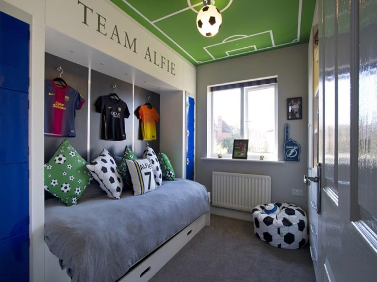 Office Storage Ideas Football Small Bedroom Design Boys With