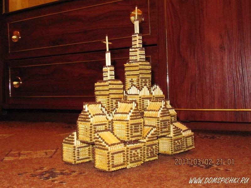 как зделать замки и церкви из спичек одежда активных людей
