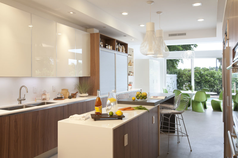 интерьер кухни в воздушном стиле