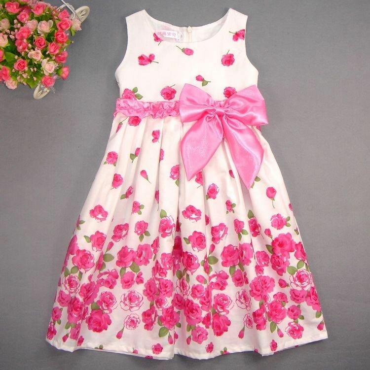Хлопковое красивое платье для девочки