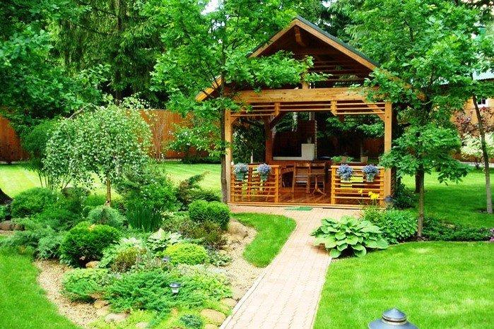 сад с баней