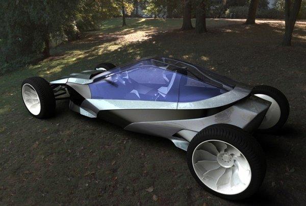 Хотя Gym Car работает от электродвигателя, заряжается от встроенного в авто велотренажера.