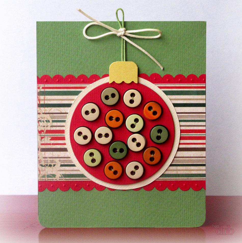 Картинки, новогодняя открытка легко и просто