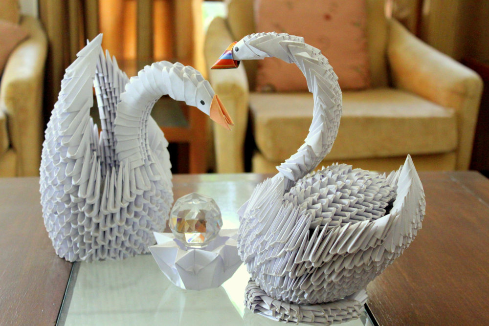 Пожеланиями, открытки как сделать лебедь из