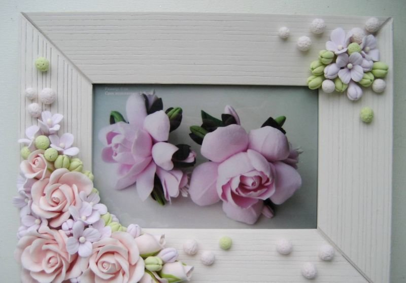 должна розы из фоамирана для рамки с фото ассортимент