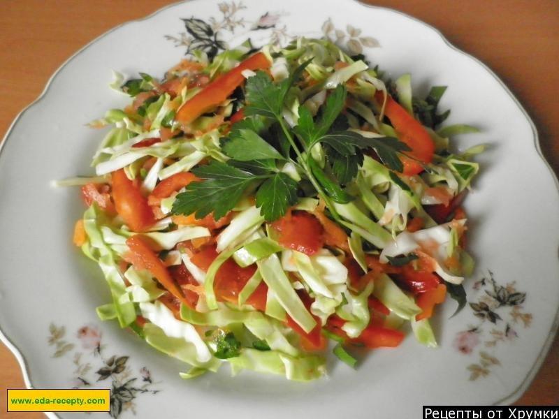 салат из свежей капусты с лимонным соком