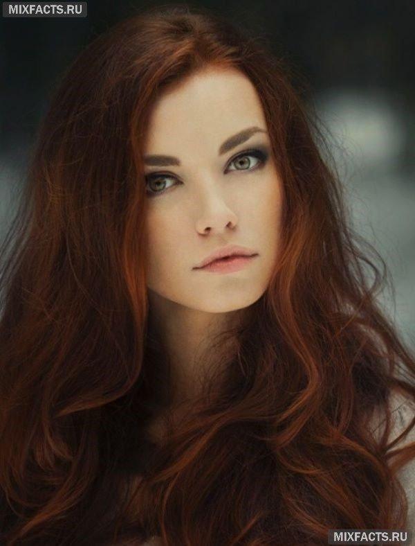 Темно рыжие волосы фото