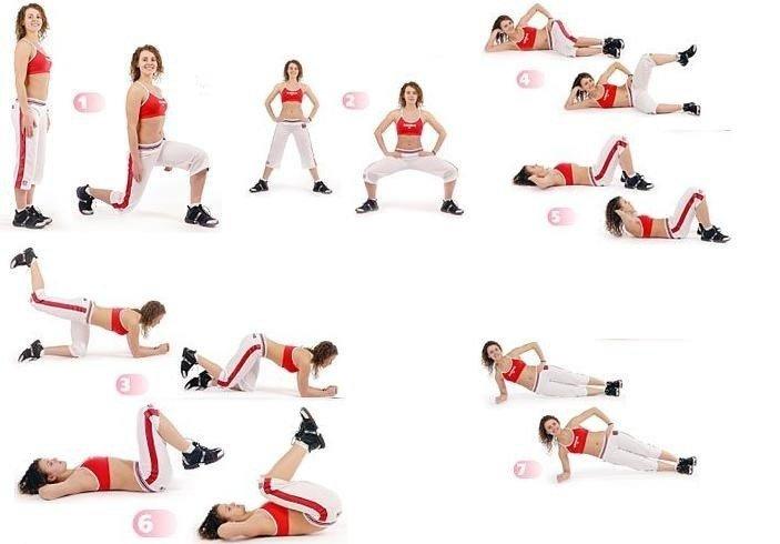 тренировки для похудения и для живота