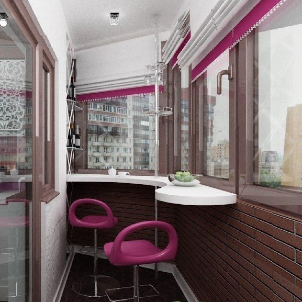 Современные идеи оформления интерьера маленького балкона в к.