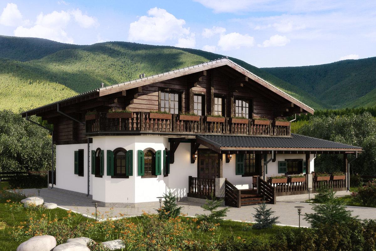 дом в альпийском стиле фото проекты подушек холлофайбер