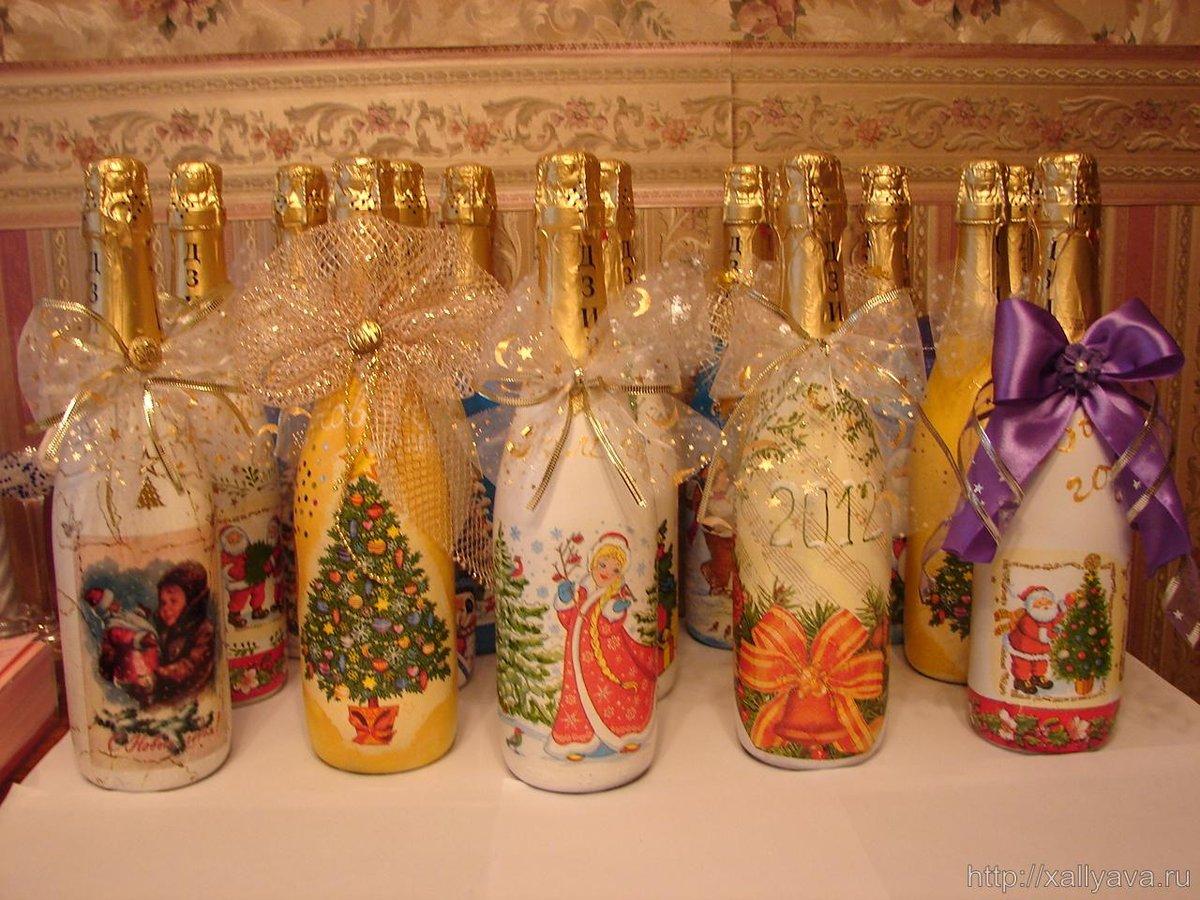 бутылка шампанского на новый год декупаж купить детский