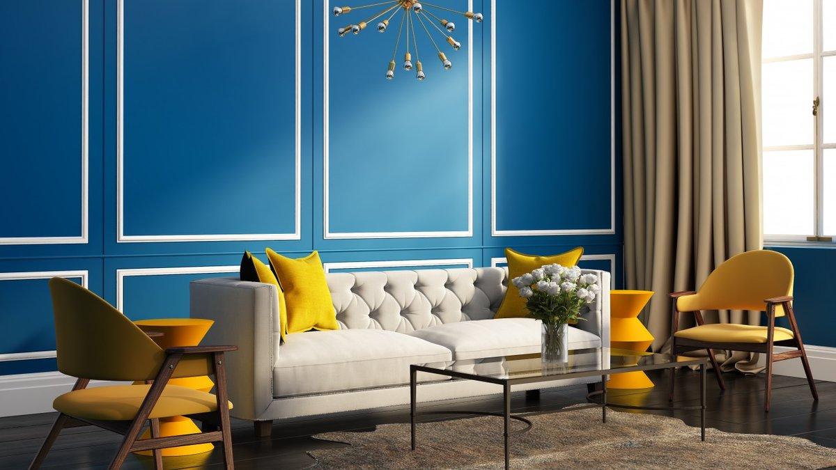 начинают картинки на стену для интерьера в синем есть