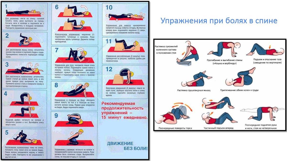 Как разминать спину при остеохондрозе