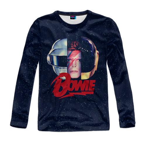 Мужской лонгслив 3D Bowie