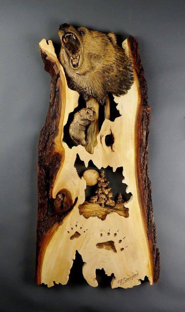 Резьба по дереву. Мастер: Владимир Давыдов