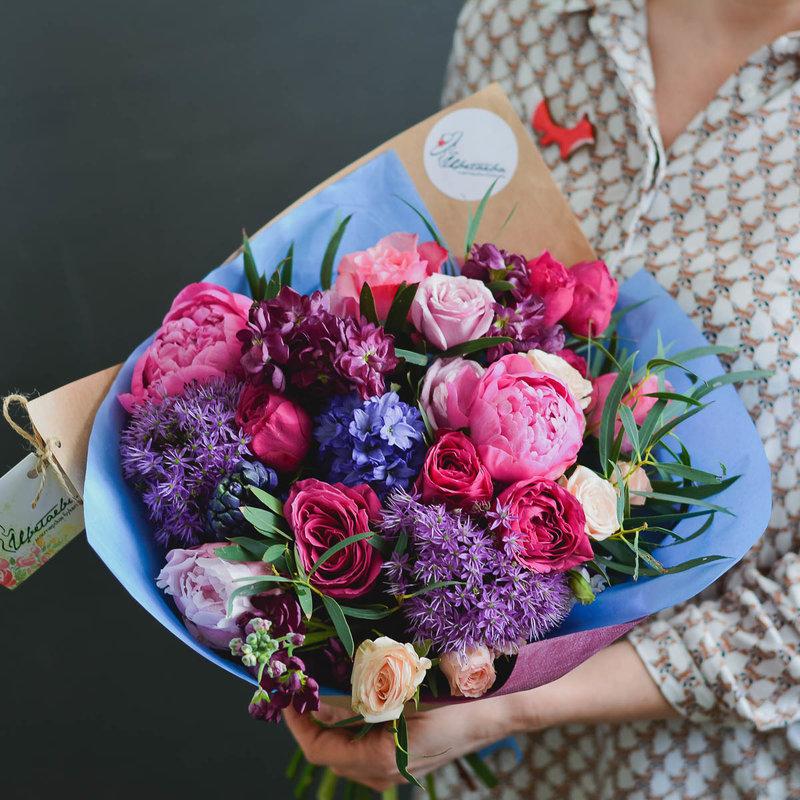 Профессиональные букеты из цветов фото