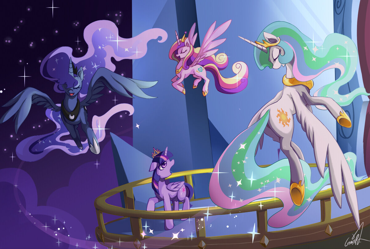 Картинки пони всех принцесс вместе